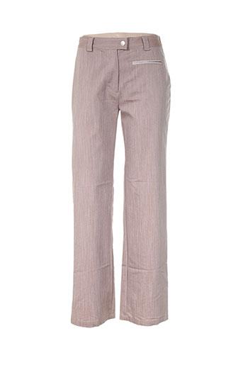 daniel amaury pantalons femme de couleur beige