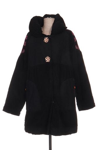 infini moi manteaux femme de couleur noir