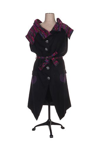 enjoy manteaux femme de couleur noir