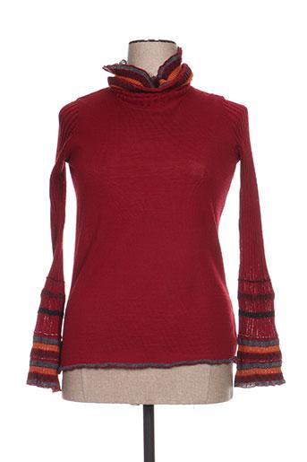 jean gabriel pulls femme de couleur rouge
