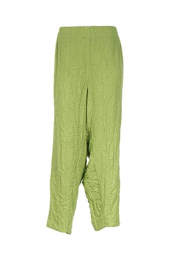 chalou pantacourts femme de couleur vert