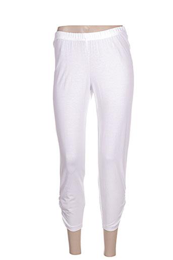 chalou pantalons femme de couleur blanc
