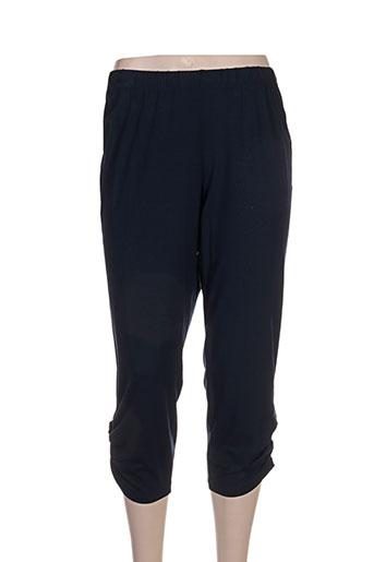 chalou pantalons femme de couleur bleu