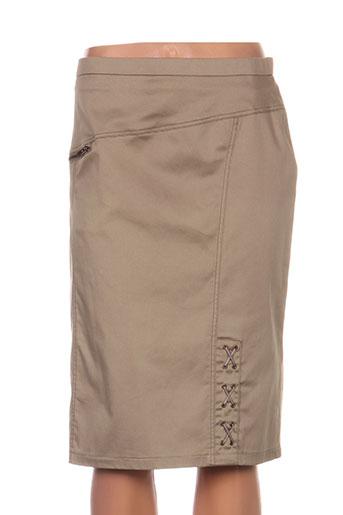 jean gabriel jupes femme de couleur beige