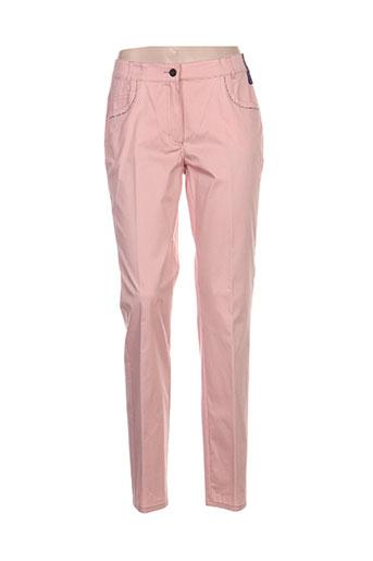 adelina by scheiter pantalons femme de couleur rose