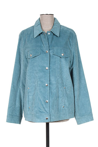 hauber vestes femme de couleur bleu