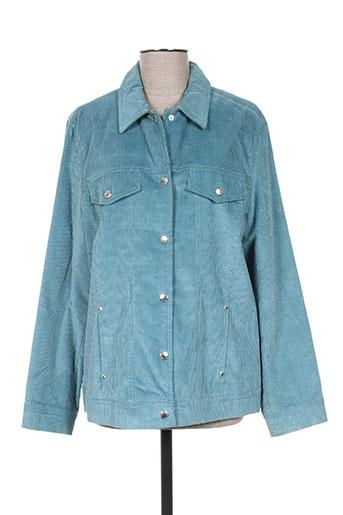 Veste casual bleu HAUBER pour femme