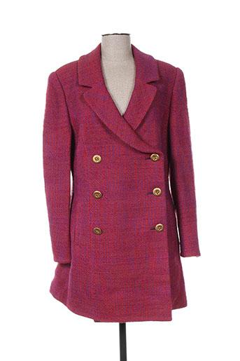 m daquin manteaux femme de couleur rose