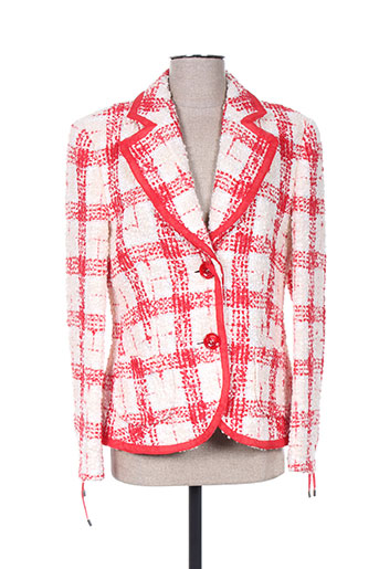 hauber vestes femme de couleur rouge