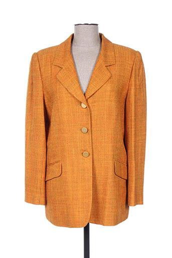 m daquin vestes femme de couleur orange