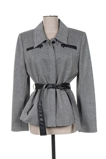marie clemence vestes femme de couleur gris