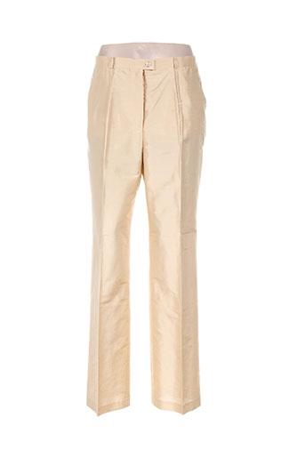 basler pantalons femme de couleur jaune