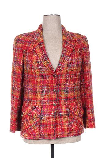 Veste casual rouge ELSA MAHR pour femme