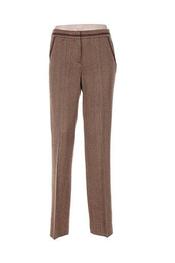 luisa cerano pantalons femme de couleur marron