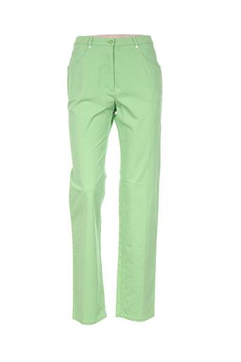 basler pantalons femme de couleur vert