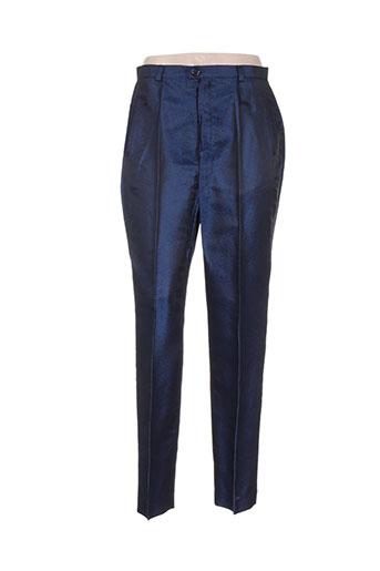 m daquin pantalons femme de couleur bleu
