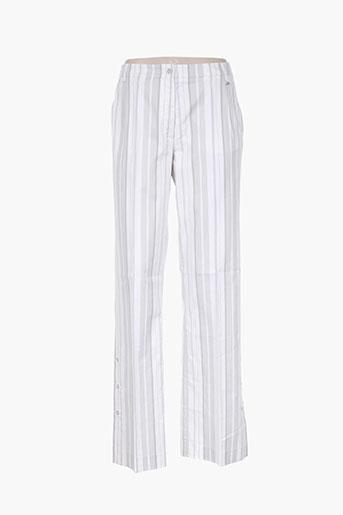 hauber pantalons femme de couleur gris