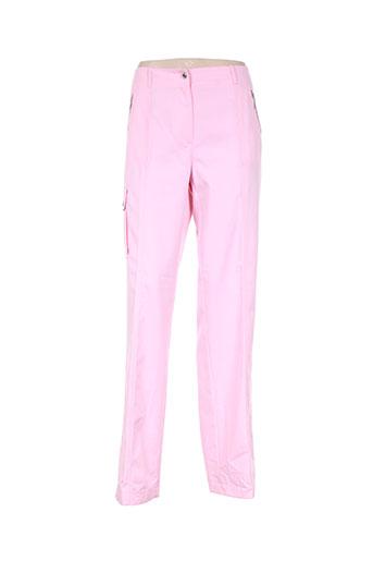 hauber pantalons femme de couleur rose