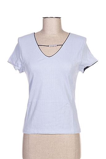 arti maglia chemises femme de couleur bleu
