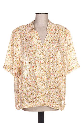 impulsion chemises femme de couleur jaune