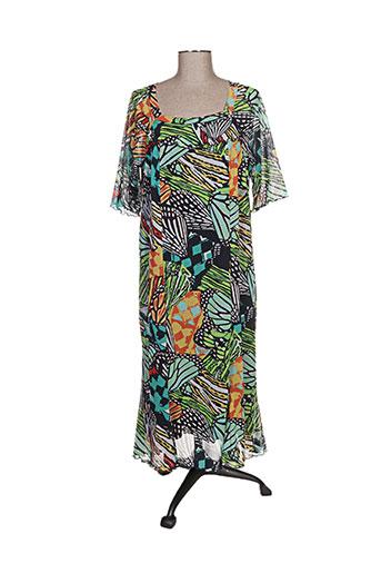 telmail robes femme de couleur vert
