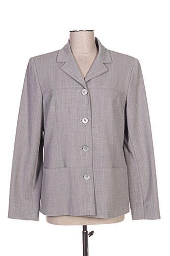 janine pauporté vestes femme de couleur gris