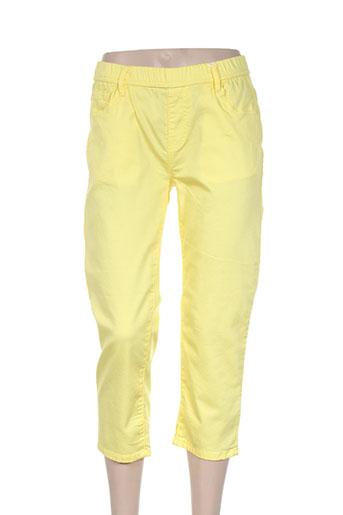 telmail pantacourts femme de couleur jaune