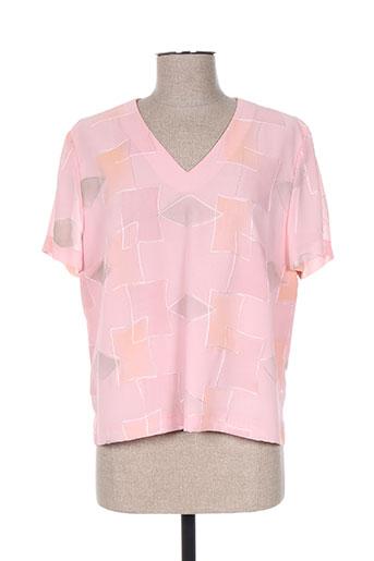 christian michel chemises femme de couleur rose