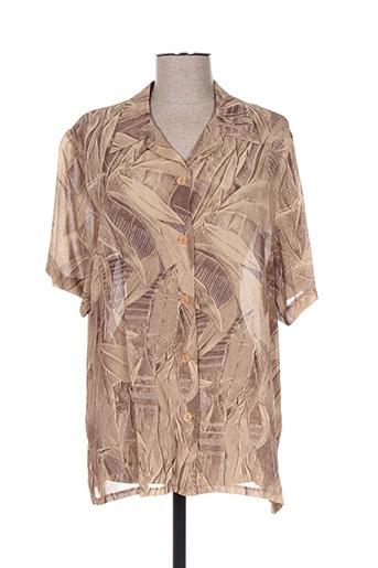griffon chemises femme de couleur marron