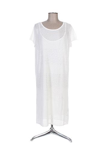 hugo boss robes femme de couleur blanc