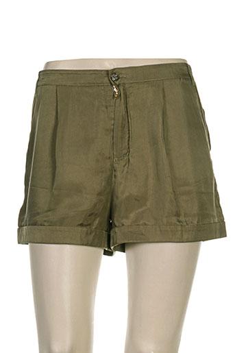 hugo boss shorts / bermudas femme de couleur vert