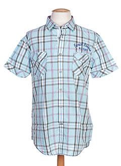 Chemise manches courtes bleu CAMBE pour homme