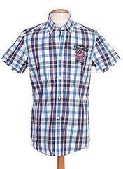 Chemise manches courtes bleu CAMBE pour homme seconde vue