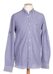 Chemise manches longues bleu CAMBE pour homme seconde vue