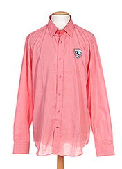 Chemise manches longues rose CAMBE pour homme seconde vue