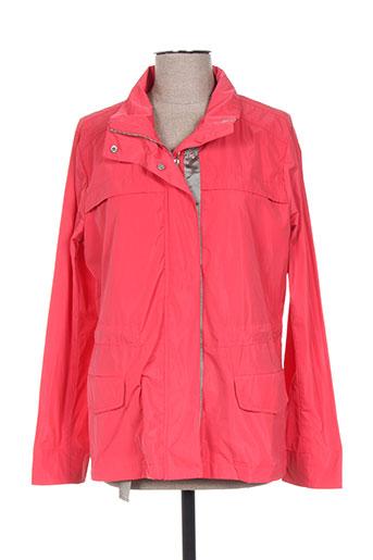 andamio manteaux femme de couleur rouge