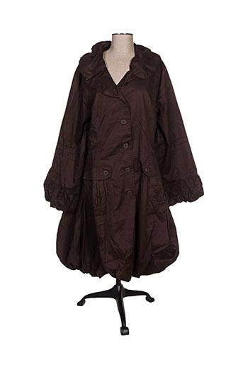 l33 manteaux femme de couleur marron