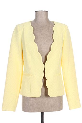 attentif vestes femme de couleur jaune