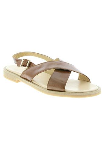 clarys chaussures femme de couleur marron