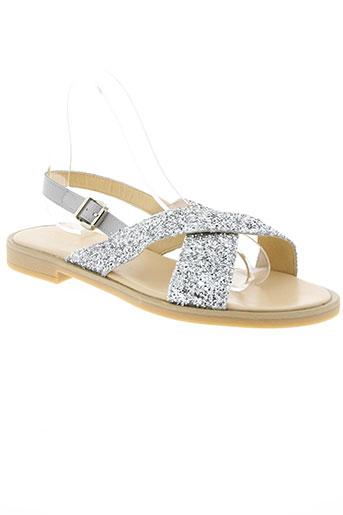 clarys chaussures femme de couleur gris