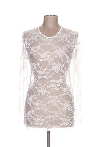 fafa mod t-shirts femme de couleur blanc