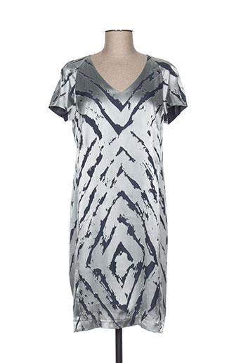 luisa cerano robes femme de couleur gris
