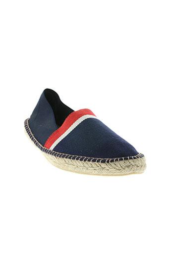 elue par nous chaussures homme de couleur bleu