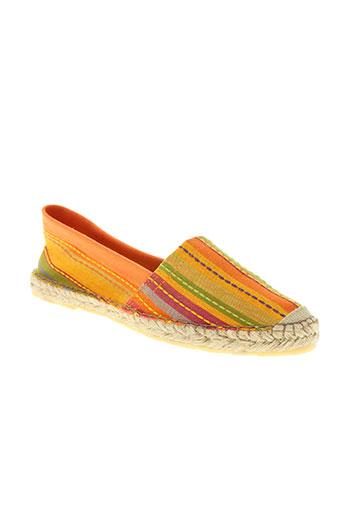 la vague chaussures femme de couleur orange