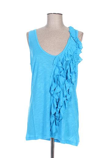 top studio chemises femme de couleur bleu