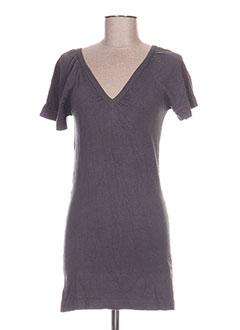 Robe courte gris ETAM pour femme