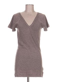 Robe courte marron ETAM pour femme