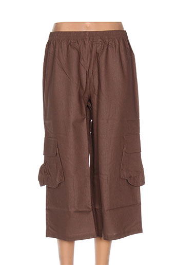 blancheporte pantacourts femme de couleur marron