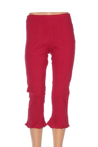 venca pantalons femme de couleur rouge
