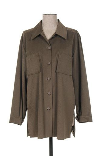 regine vestes femme de couleur vert